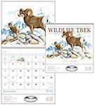 Wildlife Trek Spiral Wall Calendars